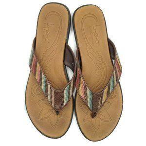 b.ø.c. Born Concept Zeva Sandals Stripes Size 11M